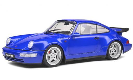 Porsche 964 Turbo 1/18 Solido 911  metallise bleue 1990 miniature