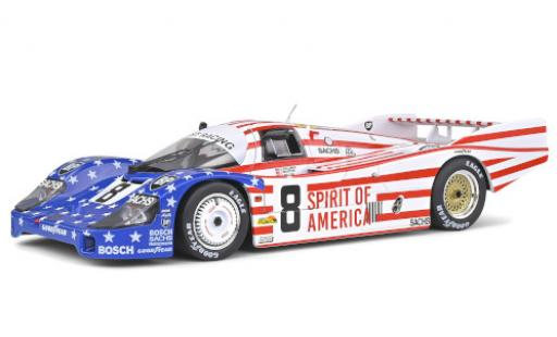 Porsche 956 1986 1/18 Solido LH RHD No.8 Joest Racing Spirit of America 24h Le Mans G.Follmer/J.Morton/K.Miller miniature