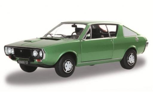 Renault 17 1/18 Solido metallise green 1976 diecast model cars