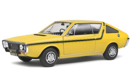 Renault 17 1/18 Solido TL yellow/black 1976 diecast model cars