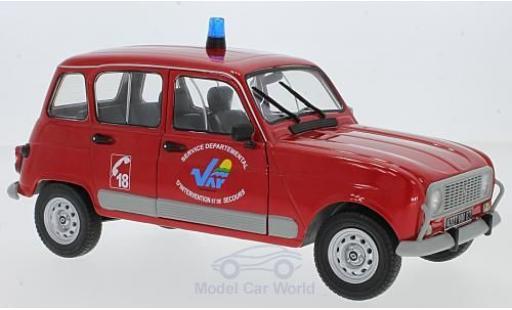Renault 4 L 1/18 Solido GT Feuerwehr miniature