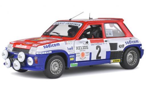 Renault 5 1/18 Solido Turbo No.2 Team Galtier Sodicam Rallye EM Rallye Antibes 1983 y compris les Decals J-L.Therier/M.Vial diecast model cars