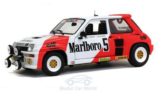 Renault 5 1/18 Solido Turbo No. Marlboro Rallye du Var 1982 mit Decals A.Prost/J-M.Andrie miniatura
