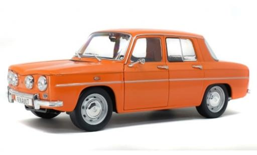Renault 8 1/18 Solido TS orange diecast model cars
