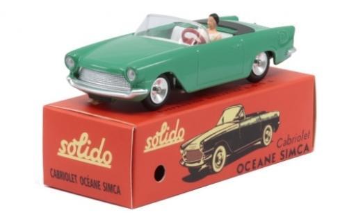 Simca Oceane 1/43 Solido Cabriolet verde 1960 modellino in miniatura