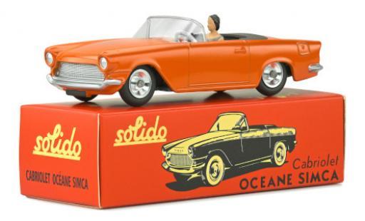 Simca Oceane 1/43 Solido orange avec figurine miniature