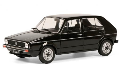 Volkswagen Golf 1/18 Solido I L black 1983 diecast model cars