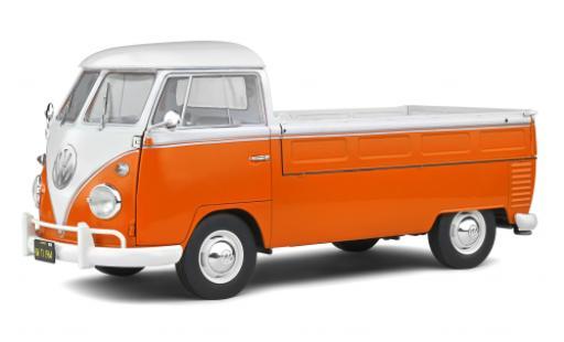 Volkswagen T1 1/18 Solido Pritsche orange/blanche 1950 miniature