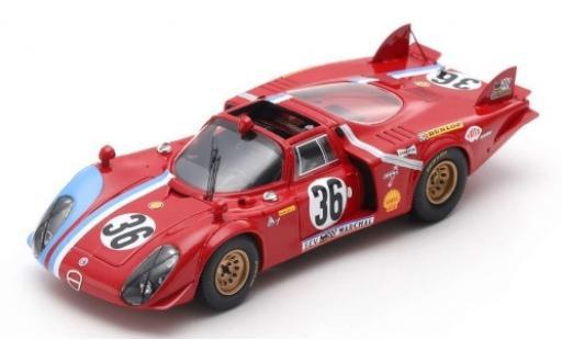 Alfa Romeo T33 1/43 Spark /2 No.36 24h Le Mans 1969 T.Pilette/R.Slotemaker modellino in miniatura