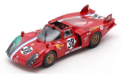 Alfa Romeo T33 1/43 Spark /2 No.38 24h Le Mans 1969 G.Gosselin/C.Bourgoignie modellino in miniatura