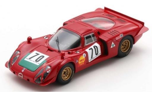 Alfa Romeo T33 1/43 Spark Tipo 33/2 No.70 Autodelta Ronde Cevenole 1969 I.Giunti diecast model cars