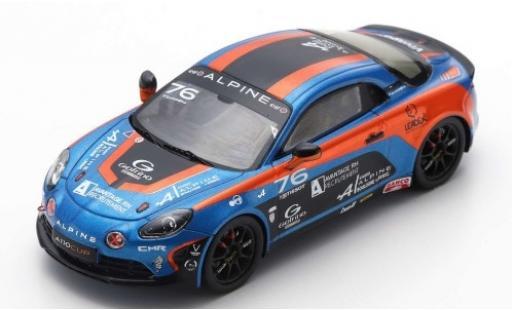 Alpine A110 1/43 Spark Cup No.76 Elf Europa Cup 2018 P.Sancinena diecast model cars