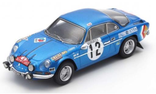 Alpine A110 1/43 Spark No.12 Rally Monte Carlo 1971 B.Darniche/C.Robertet modellautos