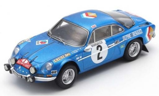Alpine A110 1/43 Spark No.2 Renault Rallye Monte Carlo 1971 J.P.Nicolas/C.Roure diecast model cars