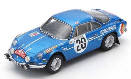 Alpine A110 1/43 Spark No.28 Rally Monte Carlo 1971 O.Andersson/D.Stone miniature