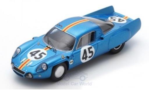 Alpine A210 1/43 Spark No.45 24h Le Mans 1966 G.Verrier/R.Bouharde diecast model cars
