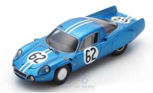 Alpine A210 1/43 Spark No.62 24h Le Mans 1966 H.Grandsire/L.Cella diecast model cars