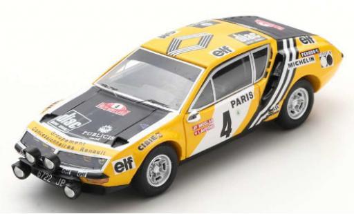 Alpine A310 1/43 Spark No.4 Rallye WM Rally Monte Carlo 1976 J-P.Nicolas/V.Laverne diecast model cars