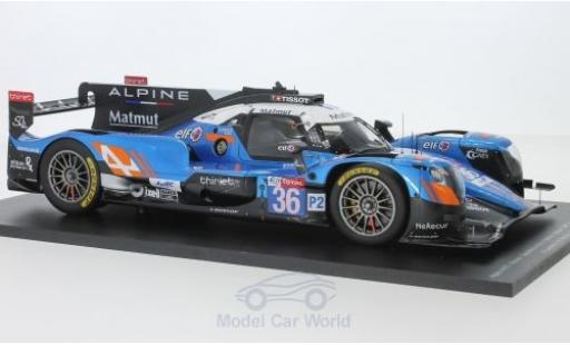 Alpine A470 1/18 Spark - Gibson No.36 Signatech- Matmut 24h Le Mans 2018 N.Lapierre/A.Negrao/P.Thiriet modellino in miniatura