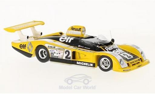 Alpine A442 1/43 Spark Renault No.2 Renault Sport 24h Le Mans 1978 D.Pironi/J.P.Jaussaud miniature