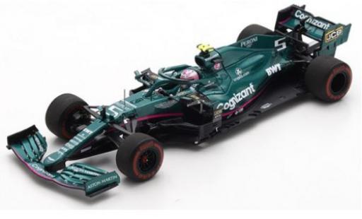 Aston Martin AMR2 1/43 Spark 1 No.5 Cognizant F1 Team Cognizant Formel 1 GP Bahrain 2021 S.Vettel diecast model cars