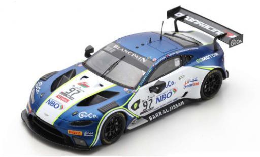 Aston Martin Vantage 1/43 Spark AMR GT3 No.97 Oman Racing with TF-Sport 24h Spa 2019 S.Yoluc/A.Al Harthy/C.Eastwood/N.Thiim diecast model cars