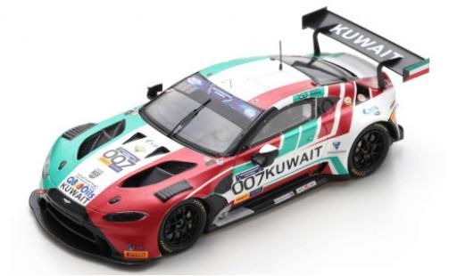 Aston Martin Vantage 1/43 Spark GT3 No.007 Team Kuwait FIA Motorsport Games GT Cup Vallelunga 2019 K.Al Mudhaf/Z.Ashkanani diecast model cars