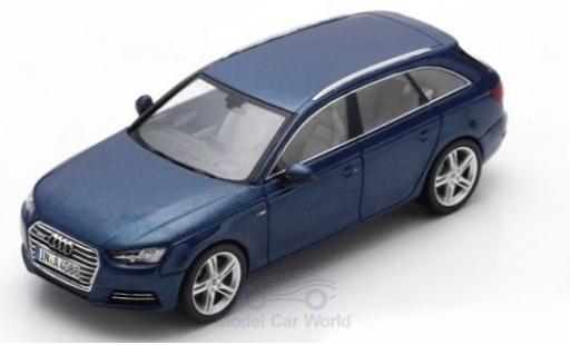 Audi A4 1/43 Spark Avant métallisé bleue 2016 miniature