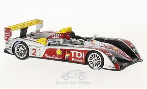 Audi R10 2008 1/43 Spark TDI No.2 Sport North America 24h Le Mans 10 Years A.McNish/R.Capello/T.Kristensen miniature