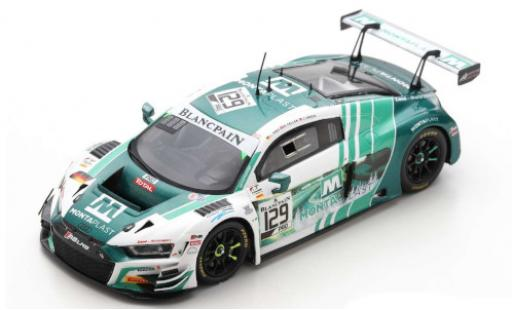 Audi R8 1/43 Spark LMS GT3 No.129 Montaplast by Land-Motorsport 24h Spa 2019 C.Mies/R.Feller/J.Green coche miniatura