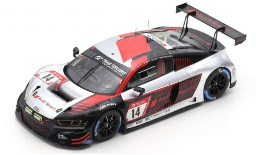 Audi R8 1/18 Spark LMS No.14 Sport Team Car Collection 24h Nürburgring 2019 M.Winkelhock/C.Haase/M.Fässler/R.Rast modellino in miniatura