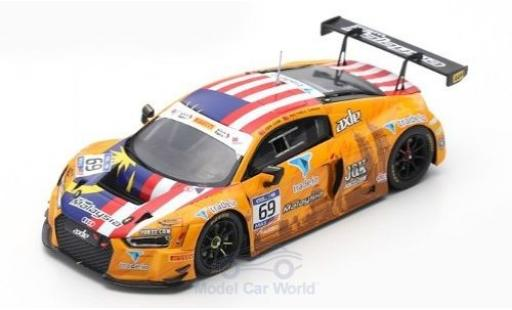 Audi R8 1/43 Spark LMS No.69 Axle Motorsport FIA GT Nations Cup Bahrain 2018 Team Malaysia Z.Low/M.Cheah diecast