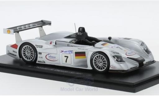 Audi R8 1/43 Spark No.7 Sport Team Joest 24h Le Mans 2000 M.Alboreto/R.Capello/C.Abt modellino in miniatura
