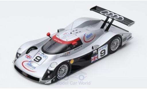 Audi R8 1/18 Spark C No.9 Sport UK 24h Le Mans 1999 S.Johansson/S.Ortelli/C.Abt miniatura
