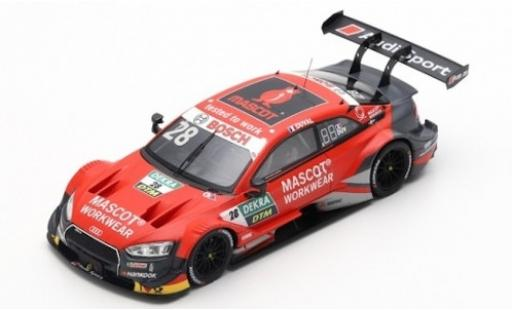 Audi RS5 1/43 Spark RS 5 No.28 Sport Team Phoenix Mascot Workwear DTM 2019 L.Duval diecast model cars