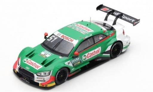 Audi RS5 1/43 Spark RS 5 No.51 Sport Team Abt Sportsline Castrol DTM 2019 N.Müller modellautos