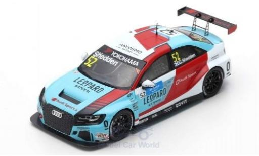 Audi RS3 1/43 Spark LMS No.69 Leopard Racing Team Sport WTCR Marrakesh 2019 J-K.Vernay miniature