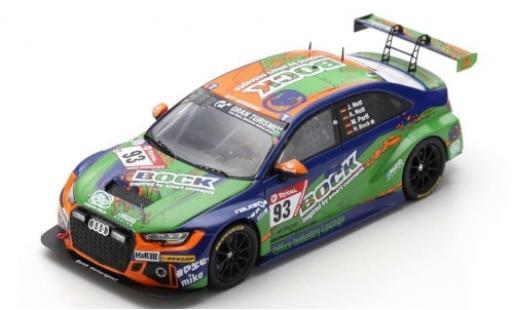 Audi RS3 1/43 Spark LMS No.93 Bonk Motorsport Bock 24h Nürburgring 2019 H.Bock/M.Partl/J.Nett/A.Nett diecast model cars