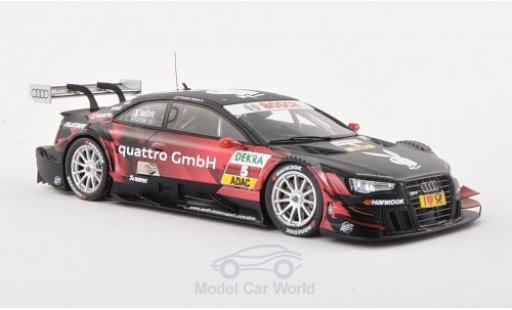 Audi RS5 DTM 1/43 Spark No.5 Sport Team Rosberg Playboy -Saison 2013 E.Mortara miniature