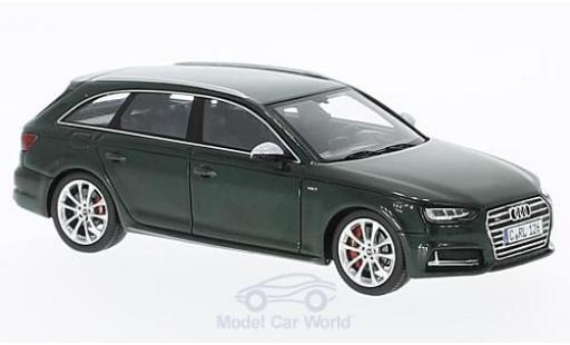 Audi S4 1/43 Spark Avant metallise verte 2016 miniature