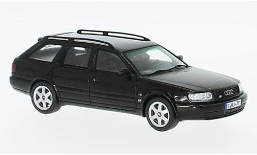 Audi S6 1/43 Spark Plus Avant black 1996 diecast model cars
