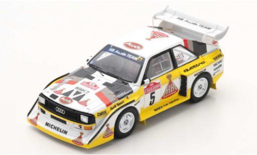 Audi Sport Quattro 1/43 Spark Sport quattro S1 E2 No.5 HB Team HB Rally WM Rally San Remo 1985 W.Röhrl/C.Geistdörfer coche miniatura