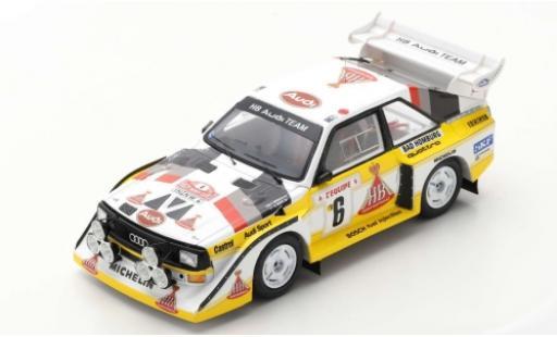 Audi Sport Quattro 1/43 Spark Sport quattro S1 E2 No.6 HB Team HB Rallye WM Rallye Monte Carlo 1986 H.Mikkola/A.Hertz modellautos