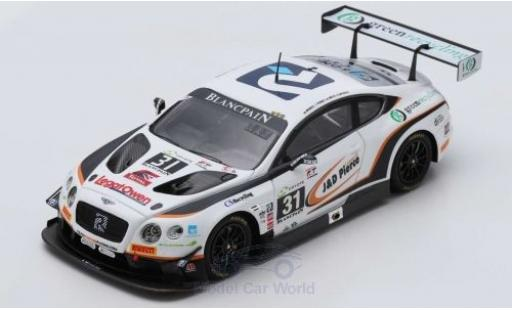 Bentley Continental 1/43 Spark GT3 RHD No.31 Team Parker Racing 24h Spa 2018 R.Smith/D.Pierce/A.Meyrick/S.Morris miniature