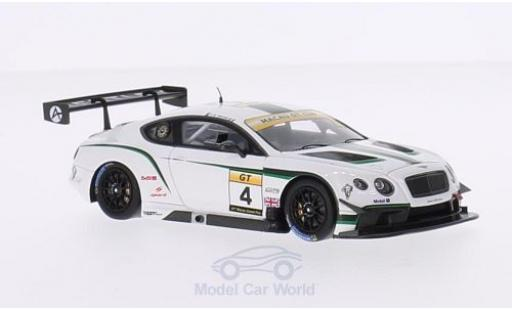 Bentley Continental T 1/43 Spark GT3 RHD No.4 Absolute Racing GT Cup GP Macau 2014 J-K.Vernay modellautos