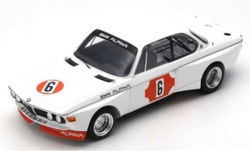 Bmw 3.0 1/18 Spark CSL (E9) No.6 Alpina 4h Monza 1973 N.Lauda/B.Muir miniature