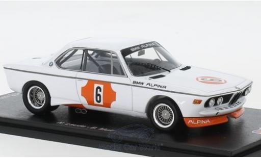 Bmw 3.0 1/43 Spark CSL No.6 4h Monza 1973 N.Lauda/B.Muir diecast model cars