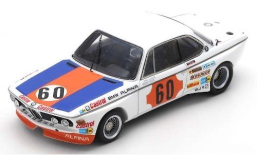Bmw 3.0 1/43 Spark CSL No.60 Alpina 1000km Spa 1973 N.Lauda/H-J.Stuck miniature