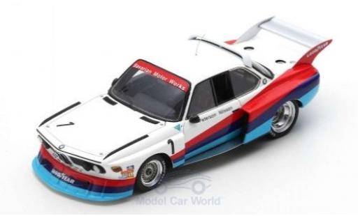 Bmw 3.5 1/43 Spark CSL Turbo No.1 6h Silverstone 1976 R.Peterson/G.Nilsson miniature