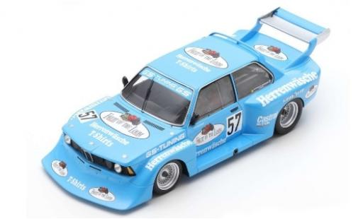 Bmw 320 1/18 Spark Gr.5 No.57 GS-Tuning Fruit of the Loom DRM Zolder 1978 M.Hoettinger modellino in miniatura